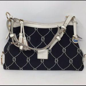 Dooney & Bourke Leather-Fabric Black/White Handbag